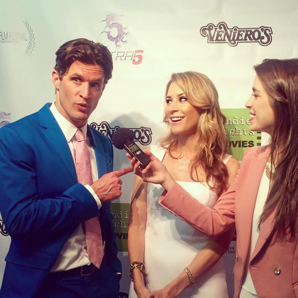 Heather Brittain O'Scanlon and Andy Peeke being interviewed at the Take Two Film Festival