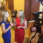 Shooting a Red Carpet segment for Chasing News with Jillian Jablonski